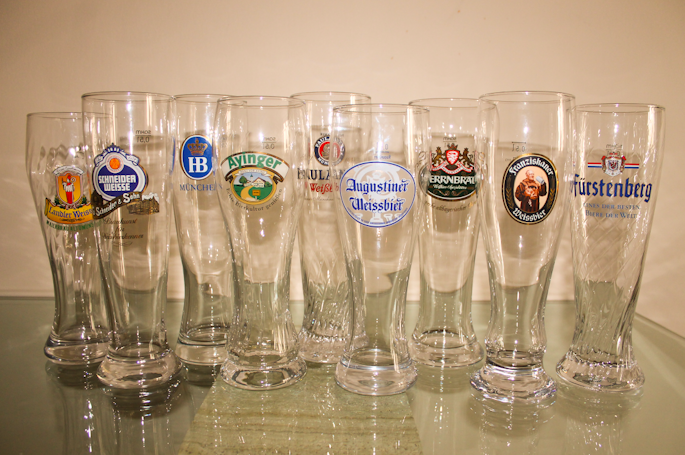 One glass for each day of the week (and three on Sunday).